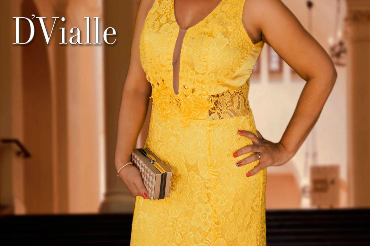 Coleção D'Vialle: Vestido Sereia na Renda