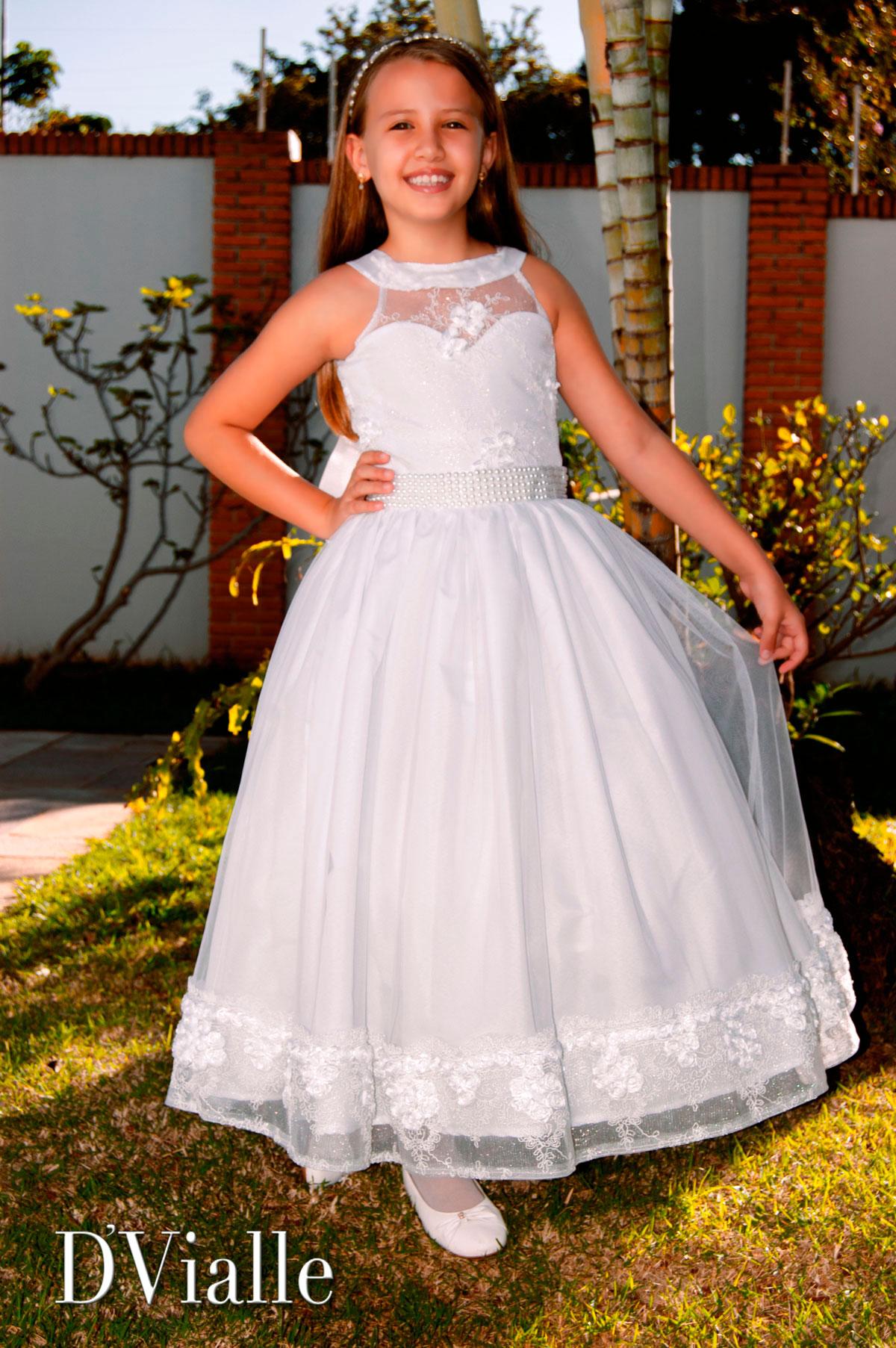 Coleção D'Vialle: Vestido dama com barrado