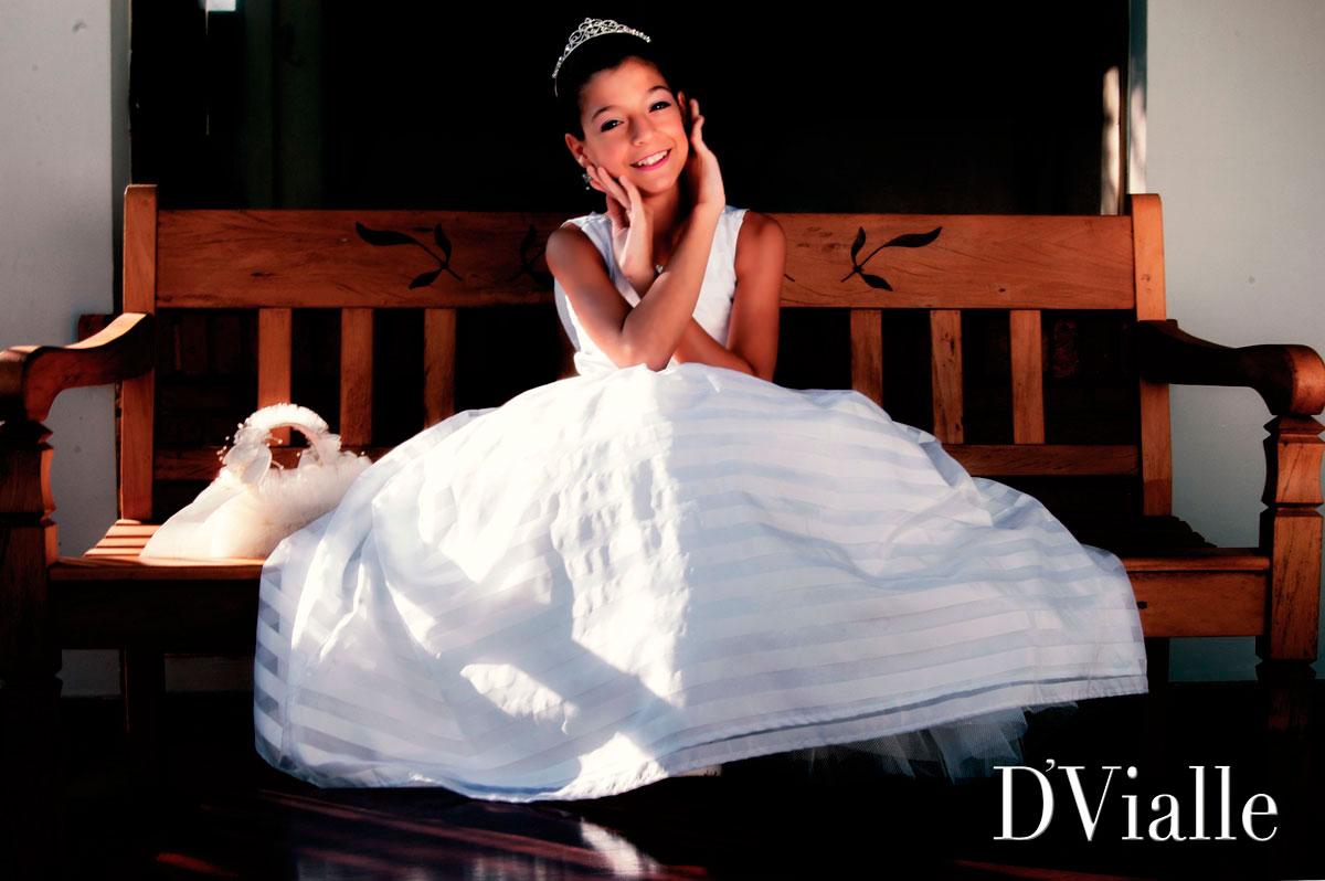 Coleção D'Vialle: Vestido Dama Saia Pregas