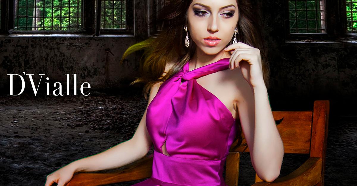 Coleção D'Vialle: Pink no cetim com bolso